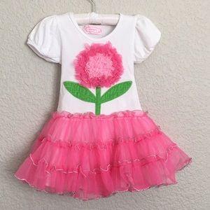 Popatu Flower Pink Party Dress Tutu